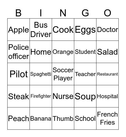 Everybody Up 2 May 15 Bingo Card