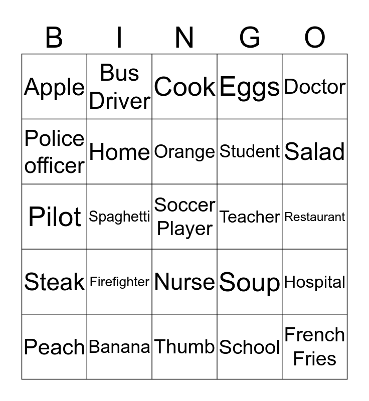 Everybody Up 2 May 15 Bingo Card