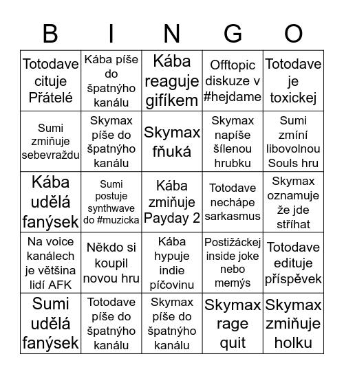 Daily Discord Bingo Card