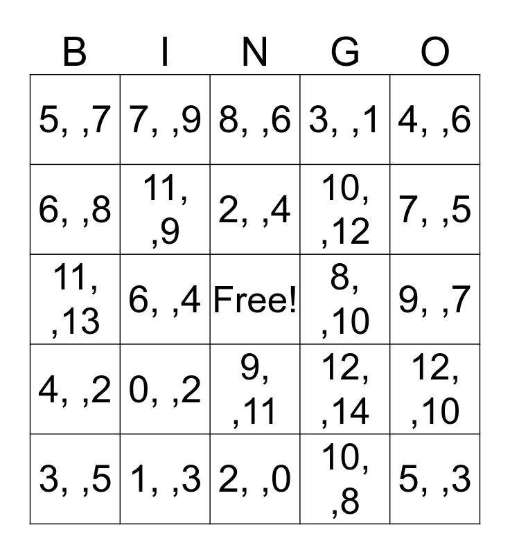 WHAT'S MISSING Bingo Card
