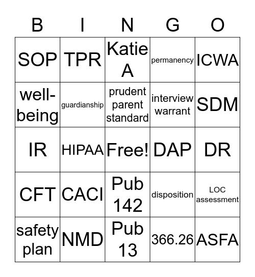 CPS Bingo Card