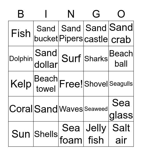 Down by the Seashore Bingo Card