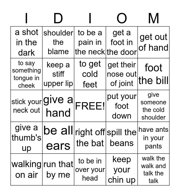 What do you mean? Bingo Card