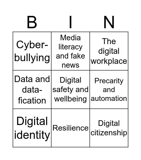Keynote themes Bingo Card