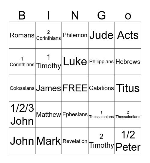 Greek Scriptures Bingo #1 Bingo Card