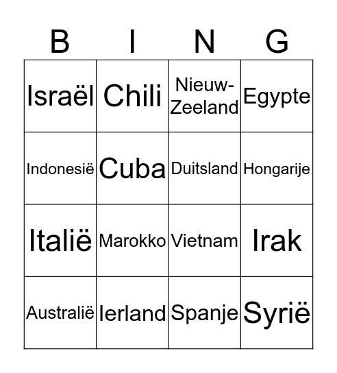 Aardrijkskunde en Geschiedenis Bingo Card