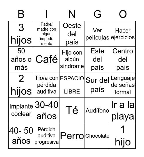 Get To Know Me  Bingo Card
