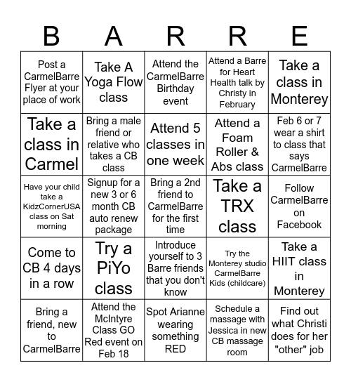 CarmelBarre Birthday Bingo Card