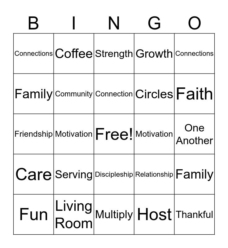 Life Group Bingo Card
