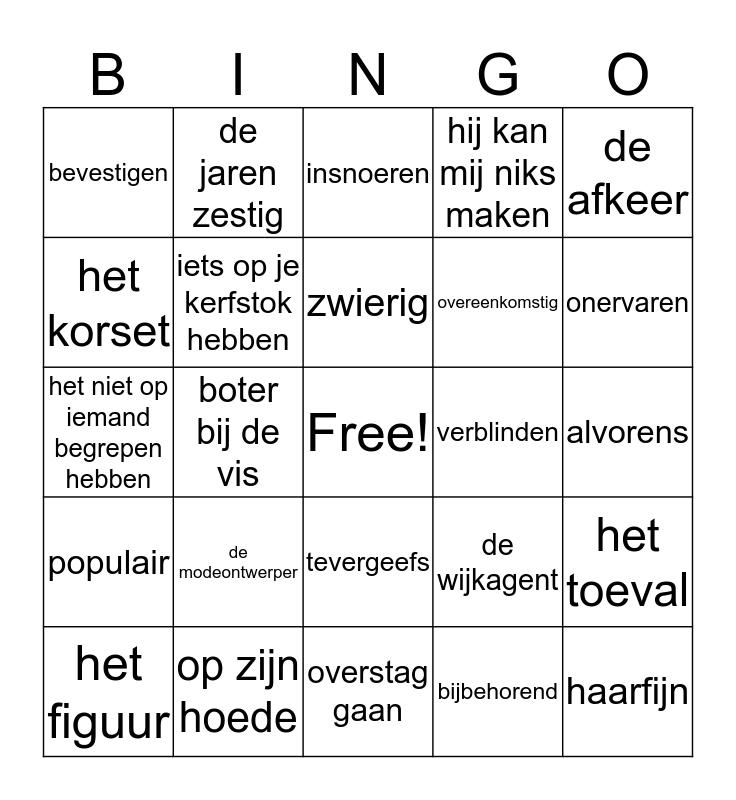 Groep 6 BINGOOOO Bingo Card