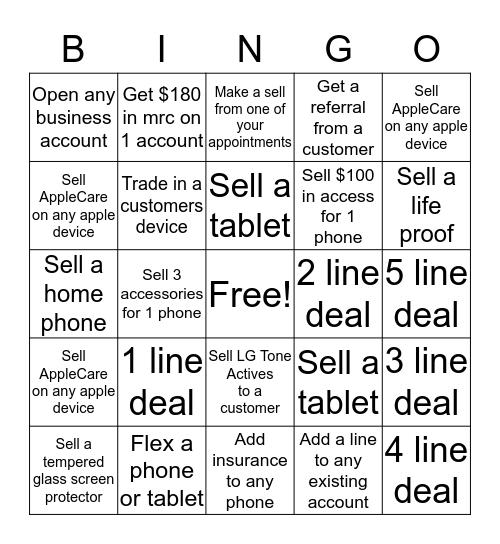Selling a bingo!!! Bingo Card