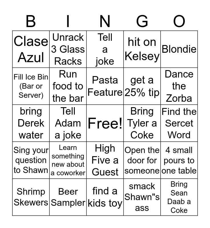 Tuesday Night  Bingo Card
