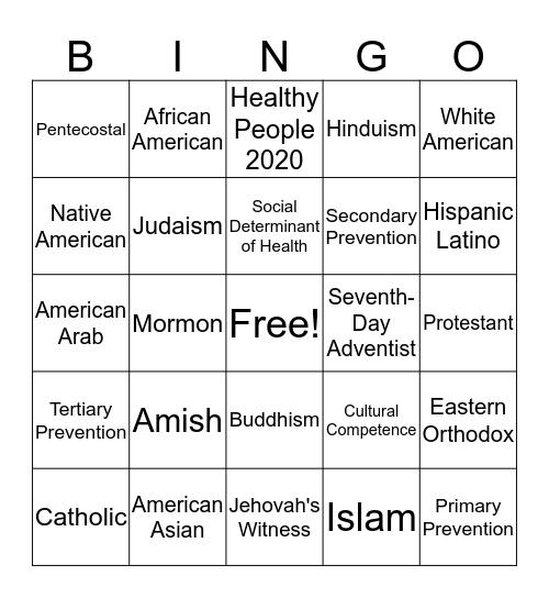 Community Bingo Card