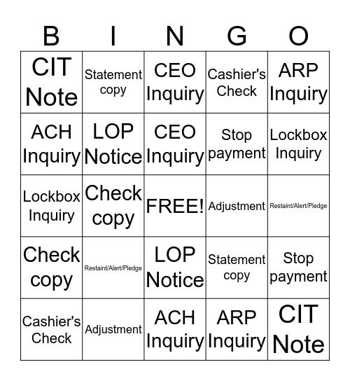 eMessaging Bingo Card