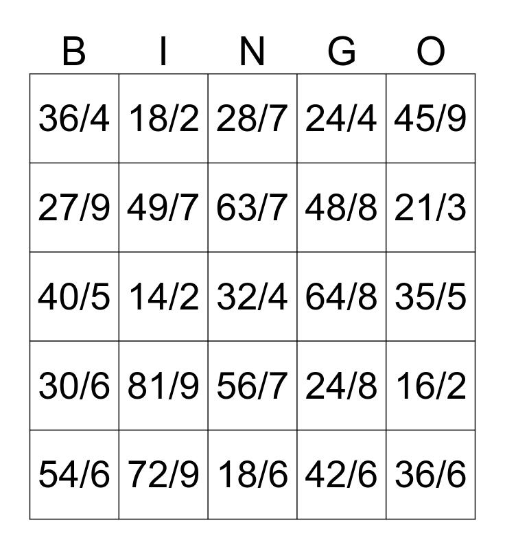 Upper Division Bingo Card