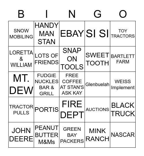 STAN'S BIRTHDAY BASH Bingo Card