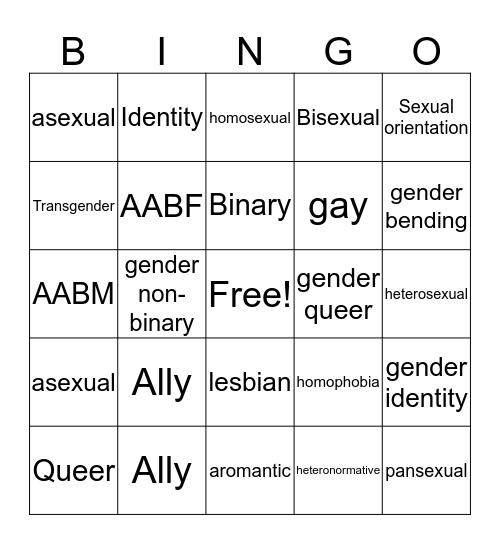 Queer Bingo Card
