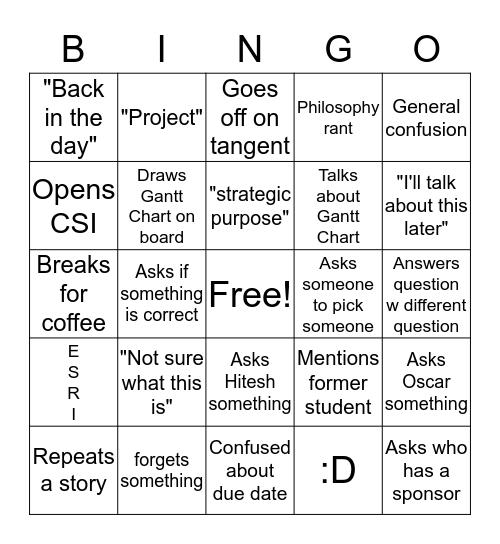 Ballard Bingo Card