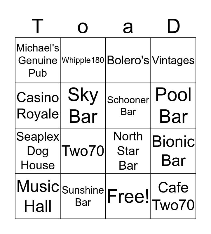 Travel On A Dream - Anthem Bingo Card