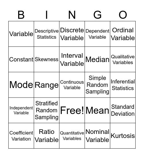 Health Science  Bingo Card