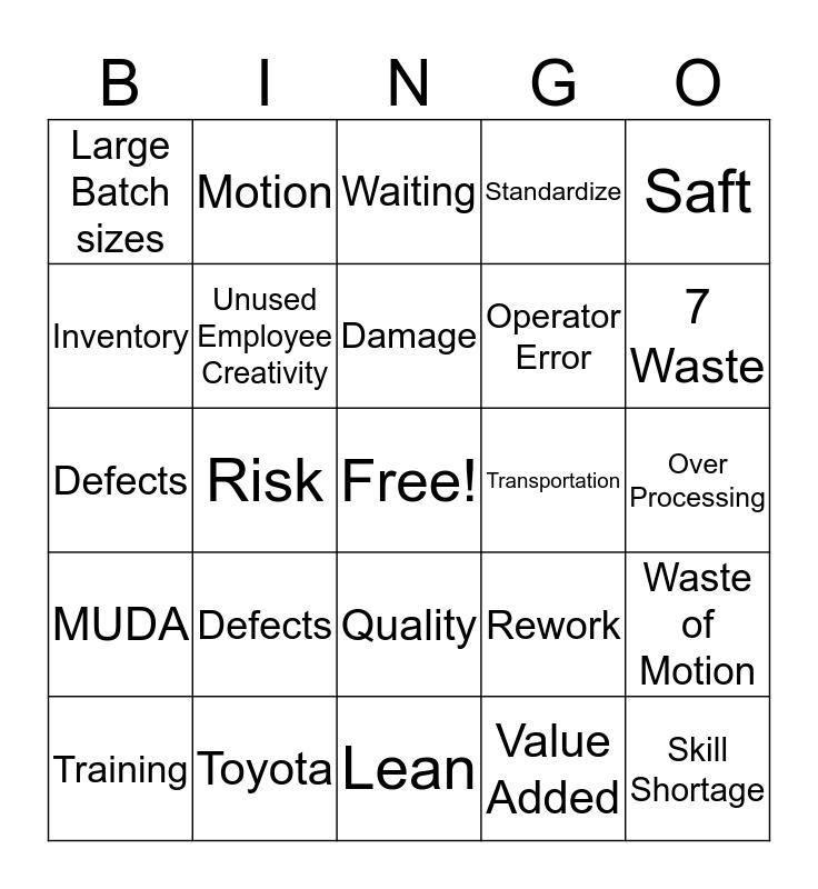 Lean-GO Bingo Card