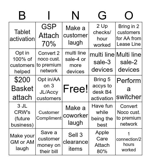 Presidents Day Weekend @ BBYM Bingo Card