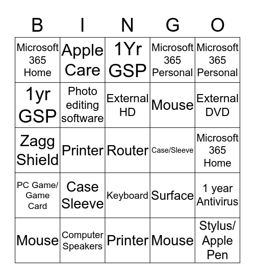 Selling Solutions LV 1 Bingo Card