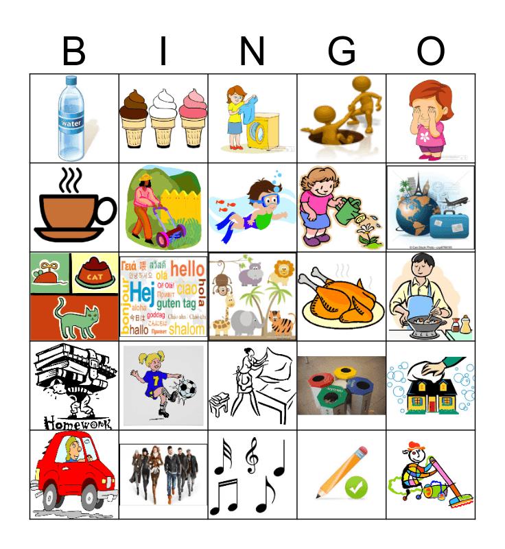 Modal Verben Bingo Card