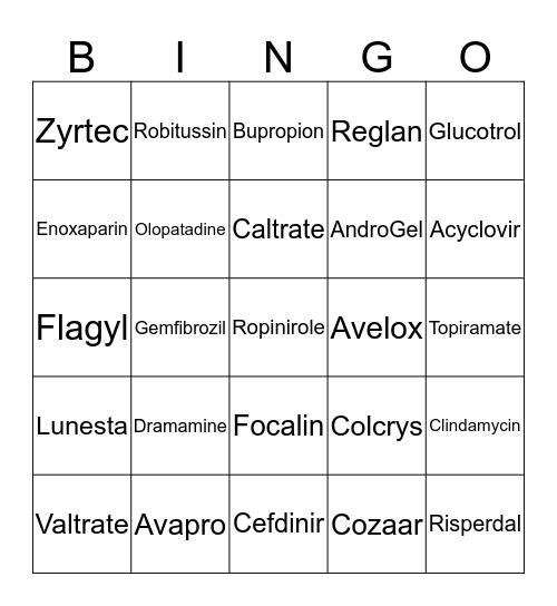 Bing-ology Bingo Card