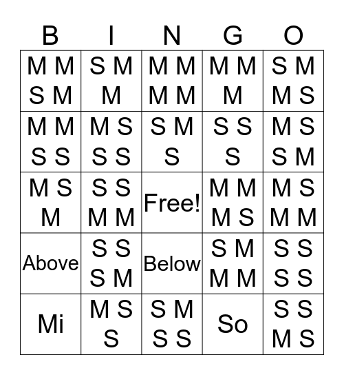 SoMi Bingo Card