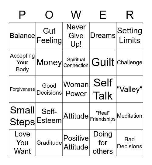 Woman Power! Bingo Card