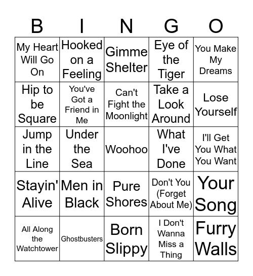 Film Tunes Bingo Card