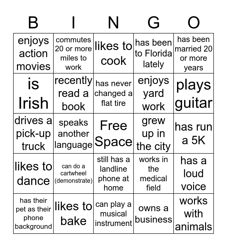 Life Group Leader Bingo Card
