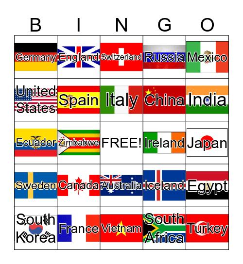 World Bingo Card