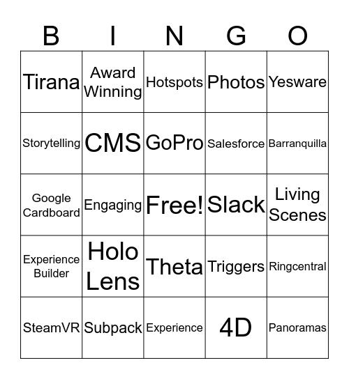 YouVisit Bingo: Round 2 Bingo Card