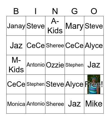 Remembering Mary CeCelia Bingo Card