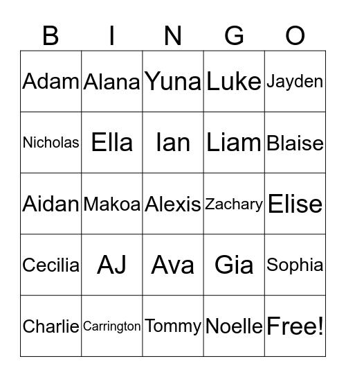 Happy 6th Ella! Bingo Card
