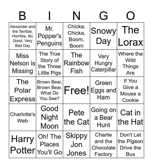 Book Quote Bingo Card