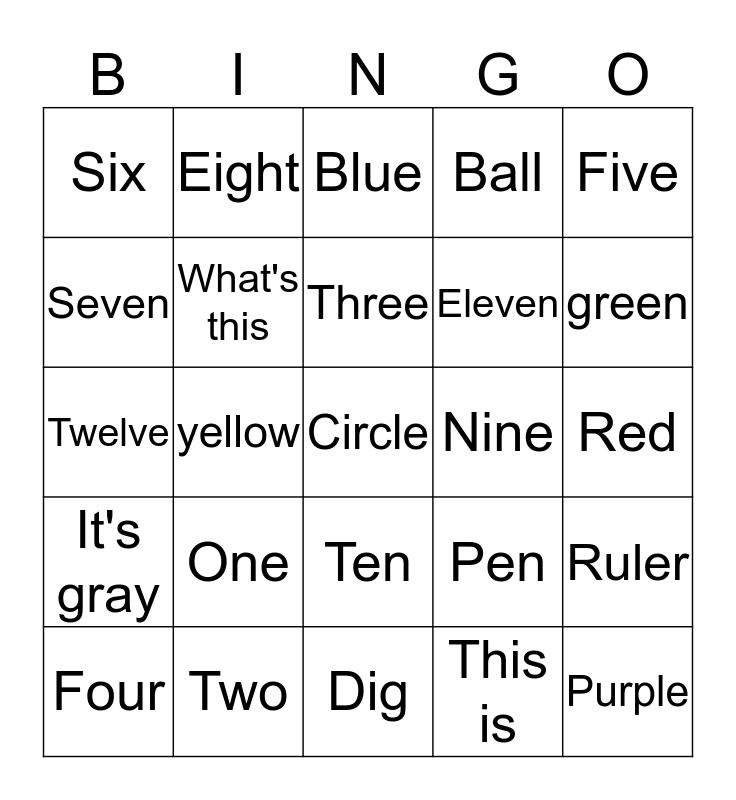 Friday Everybody up 1 Bingo Card
