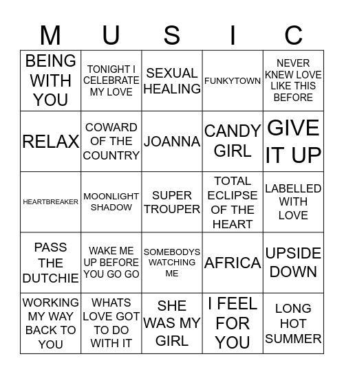 BEST OF 80'S (5) Bingo Card