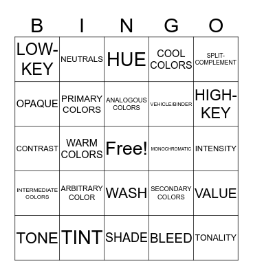 BUNCHY BINGO Card