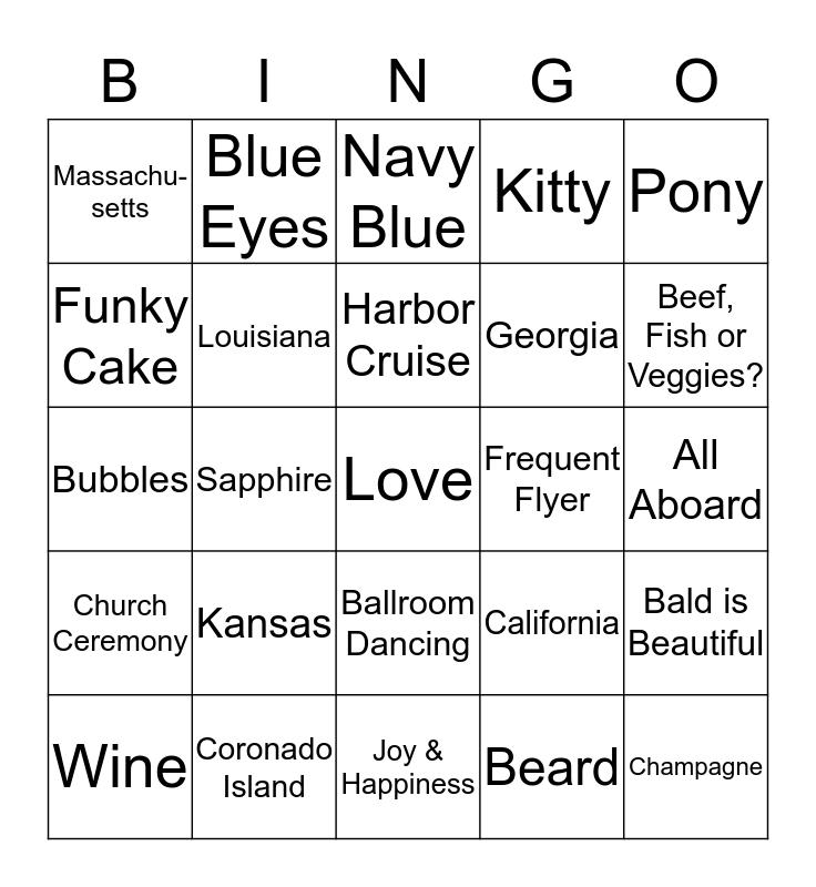SHOWER BINGO for CAITLIN Bingo Card