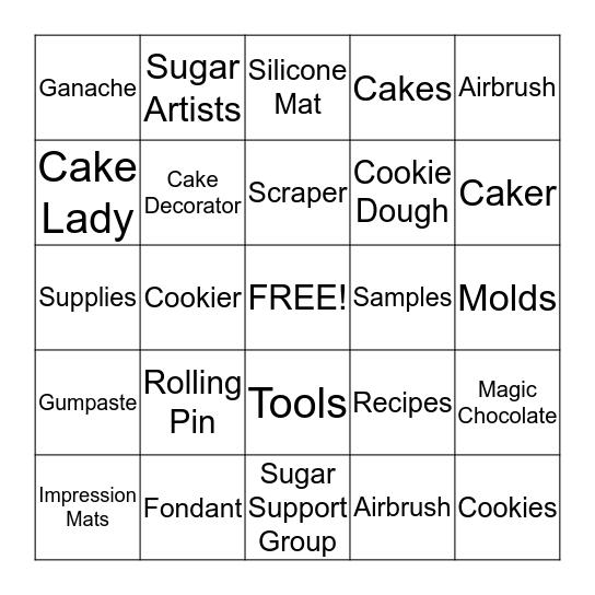 Sugar Shaker's Bingo Card