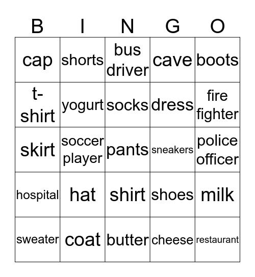 Everybody Up 2 June 18th Bingo Card