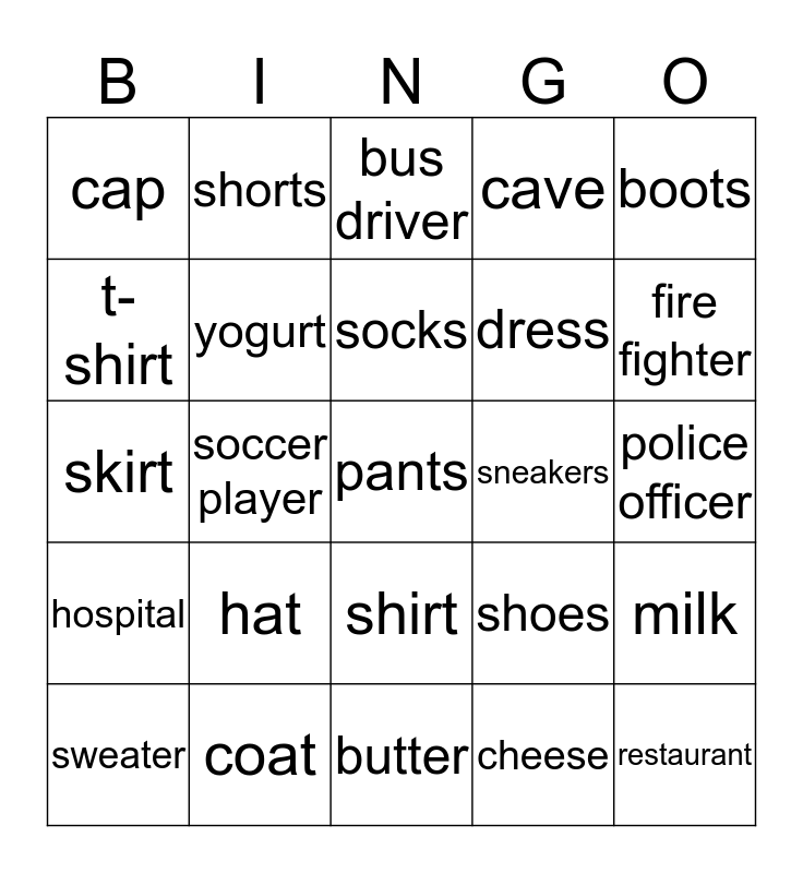 Everybody Up 2 June 18th Bingo Card