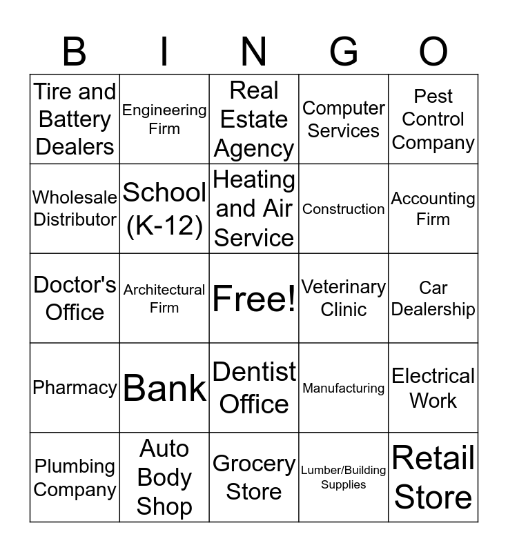 Second Quarter New Account Bingo Contest Bingo Card