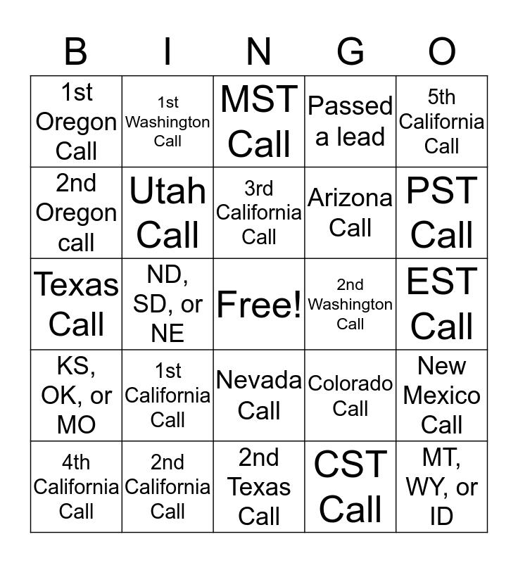 Shift Monday Bingo Card