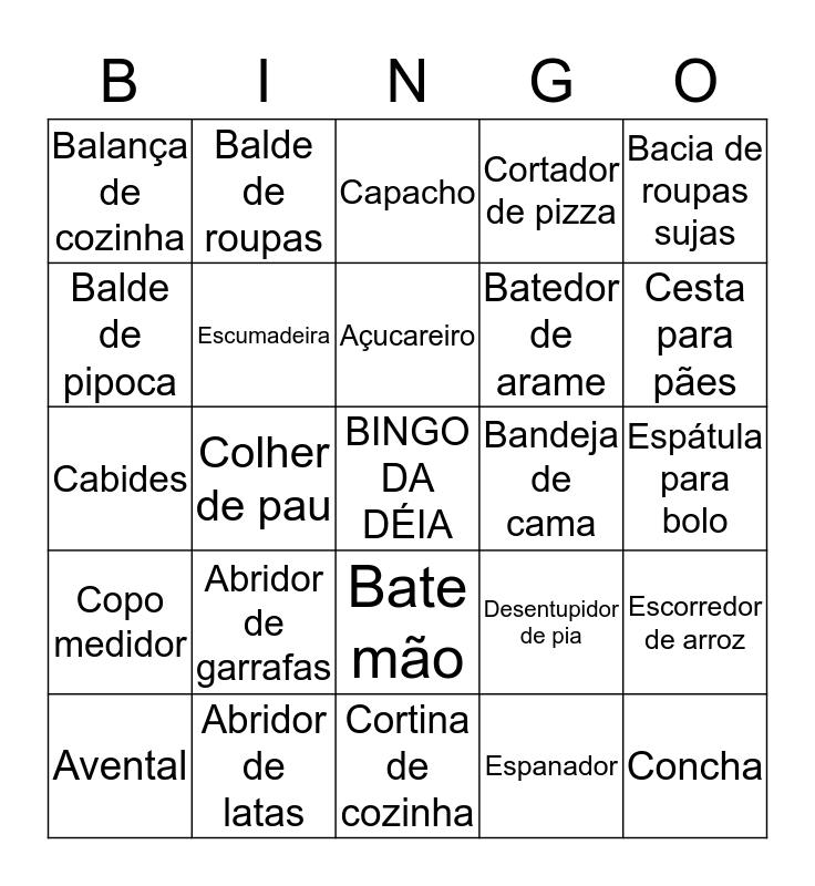 BINGO DA DÉIA Bingo Card