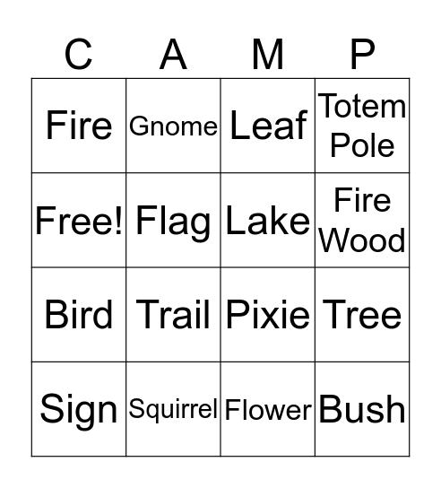 I SPY BINGO  Bingo Card