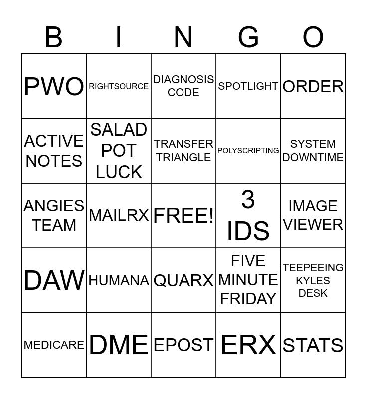 ~*LAND OF LOTTS*~ Bingo Card
